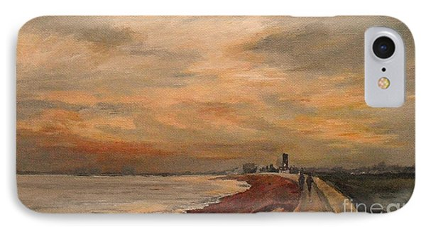 IPhone Case featuring the painting St Mary's Bay Kent Uk by Beatrice Cloake
