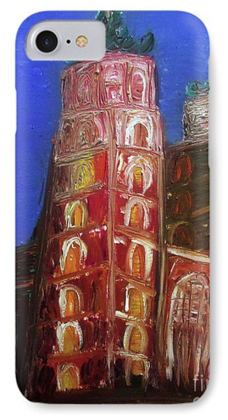 IPhone Case featuring the painting St. Mary's Church Kosciol Marjacki by Ania M Milo