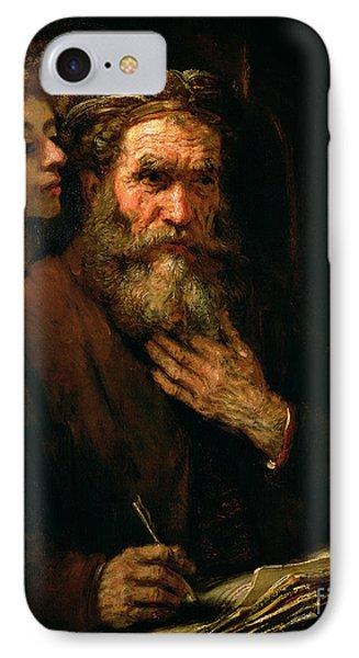 St Matthew And The Angel IPhone Case by Rembrandt Harmensz van Rijn