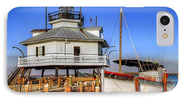 St Michaels Lighthouse IPhone Case by Dave Mills