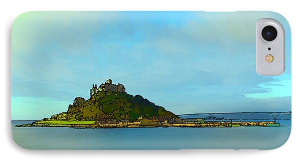 St Michaels Mount Marazion Cornwall England Uk Medieval Castle And Church On Island Bright Colours IPhone Case