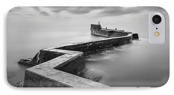 St Monans Breakwater IPhone Case by Dave Bowman