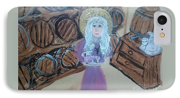 St monica in the wine cellar painting by seaux n seau soileau for Wine cellar paint colors
