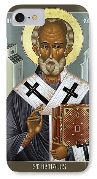 St. Nicholas Of Myra - Rlnic IPhone Case by Br Robert Lentz OFM