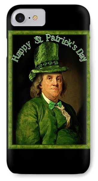 St Patrick's Day Ben Franklin IPhone Case by Gravityx9 Designs