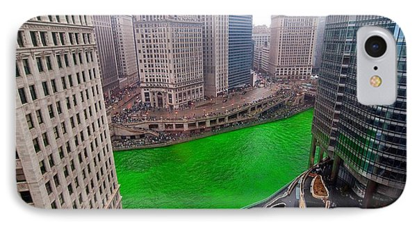 St Patrick's Day Chicago  IPhone Case by Jeff Lewis