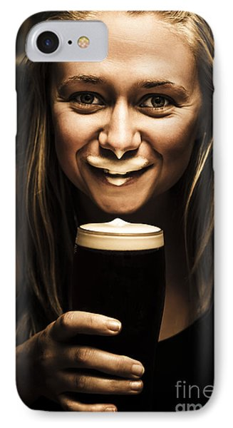 St Patricks Day Woman Imitating An Irish Man IPhone Case by Jorgo Photography - Wall Art Gallery