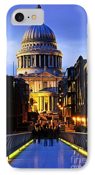 St. Paul's Cathedral From Millennium Bridge Phone Case by Elena Elisseeva