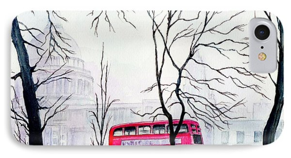 St Pauls Cathedral In The Mist  Phone Case by Morgan Fitzsimons