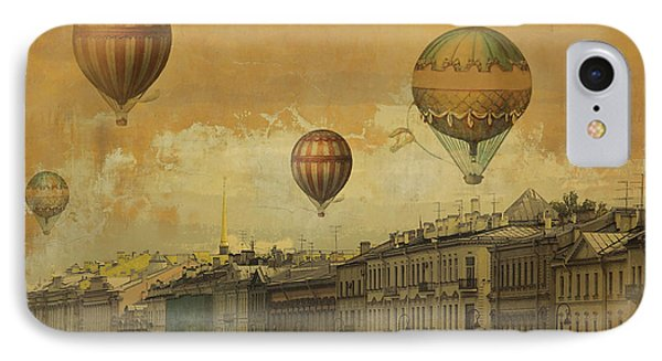 IPhone Case featuring the digital art St Petersburg With Air Baloons by Jeff Burgess