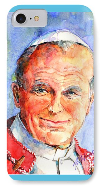 St. Pope Paul John II IPhone Case by Betty M M Wong