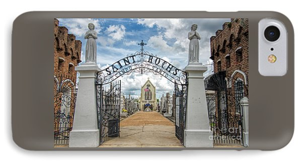 St. Roch's Cemetery In New Orleans, Louisiana IPhone Case by Bonnie Barry