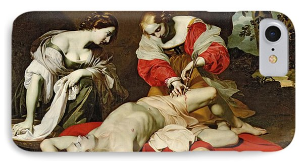 St Sebastian Tended By The Holy Irene IPhone Case by Nicholas Renieri