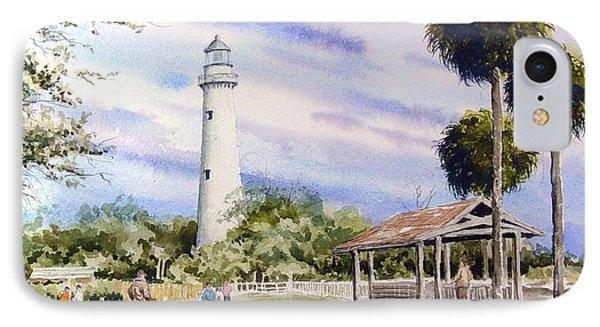 St. Simons Island Lighthouse IPhone Case by Sam Sidders