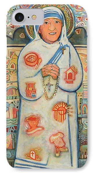 St. Teresa Of Kolkata IPhone Case by Jen Norton