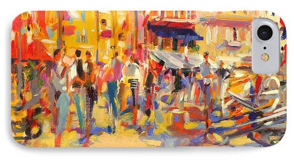 St Tropez Promenade IPhone Case by Peter Graham