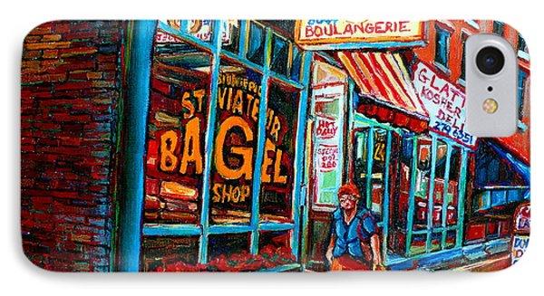 St. Viateur Bagel Bakery IPhone Case by Carole Spandau