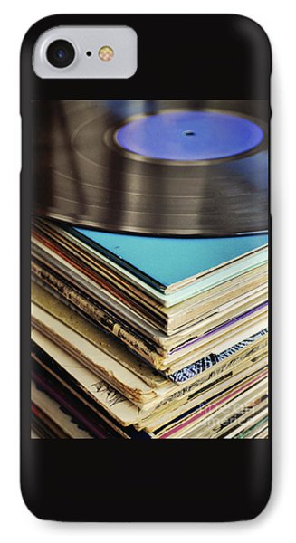 Stack Of Records IPhone Case by Lyn Randle