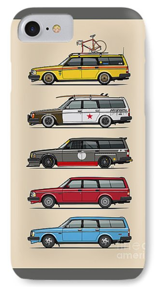Stack Of Volvo 200 Series 245 Wagons IPhone Case