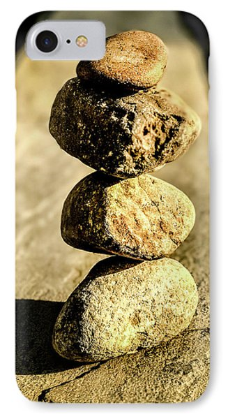 IPhone Case featuring the photograph Stacked Rocks by Onyonet  Photo Studios