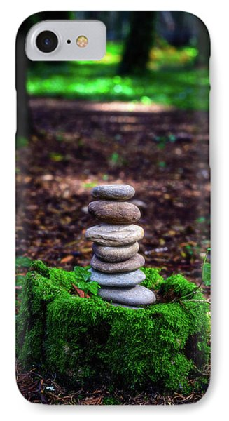 IPhone Case featuring the photograph Stacked Stones And Fairy Tales Iv by Marco Oliveira