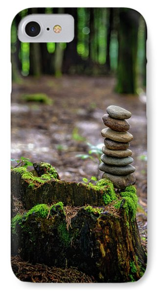 IPhone Case featuring the photograph Stacked Stones And Fairy Tales by Marco Oliveira