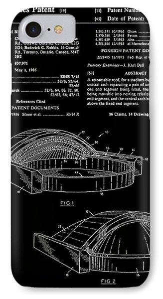 Stadium Patent - Black IPhone Case by Finlay McNevin