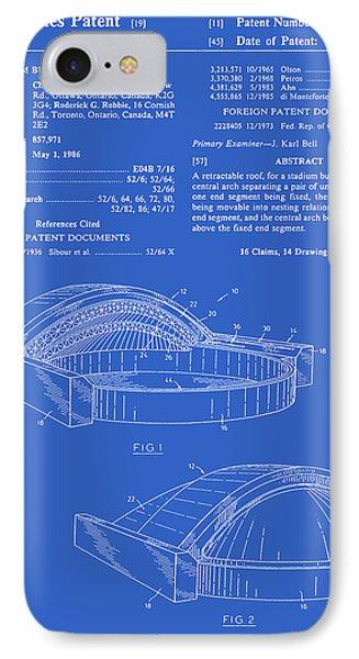 Stadium Patent - Blueprint IPhone Case by Finlay McNevin