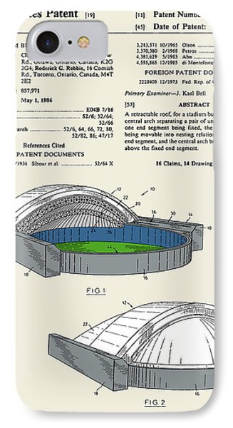 Stadium Patent IPhone Case by Finlay McNevin