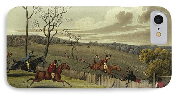 Stag Hunting IPhone Case by Henry Thomas Alken