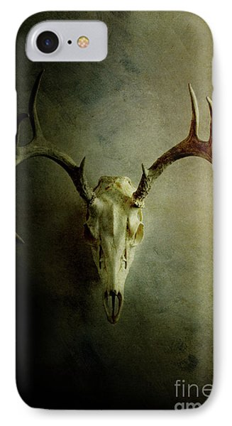 IPhone Case featuring the photograph Stag Skull by Stephanie Frey