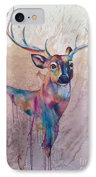 IPhone Case featuring the painting Stag Spirit by Christy  Freeman