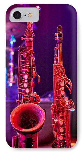 IPhone Case featuring the photograph Stage Sax by Kim Wilson