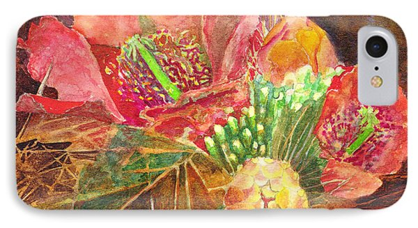 IPhone Case featuring the painting Staghorn In Bloom by Eric Samuelson