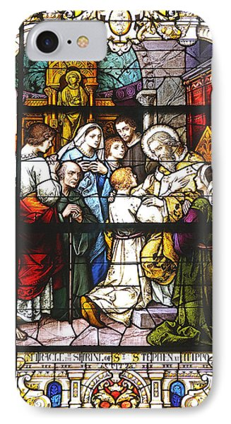 Stained Glass 1 IPhone Case by Kenneth Albin