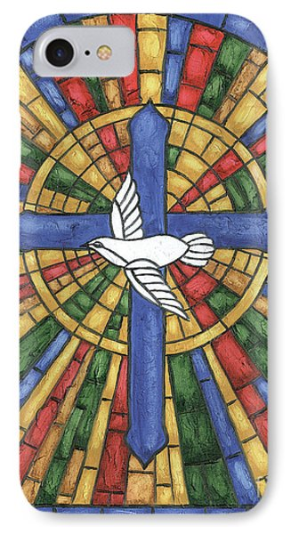 Cross iPhone 7 Case - Stained Glass Cross by Debbie DeWitt