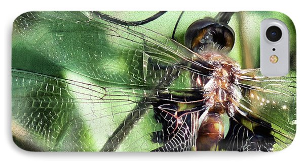 IPhone Case featuring the digital art Stained Glass Dragonfly by JC Findley