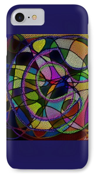 IPhone Case featuring the digital art Stained Glass Father Mother Child by Iowan Stone-Flowers