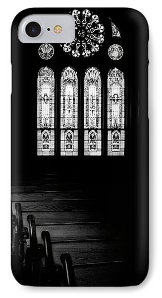 Stained Glass In Black And White IPhone Case by Tom Mc Nemar