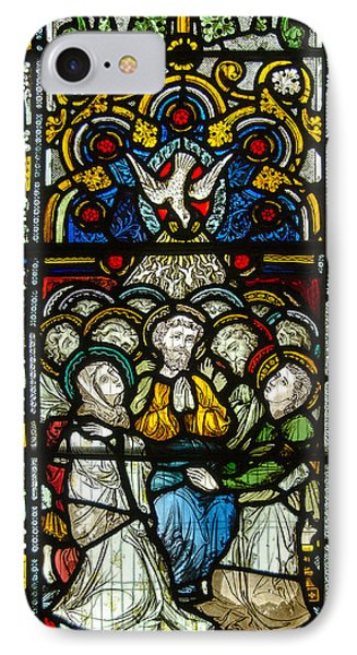 Stained Glass In Christ Chuch Cathedral Dublin IPhone Case by RicardMN Photography