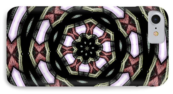 Stained Glass Kaleidoscope 12 IPhone Case by Rose Santuci-Sofranko