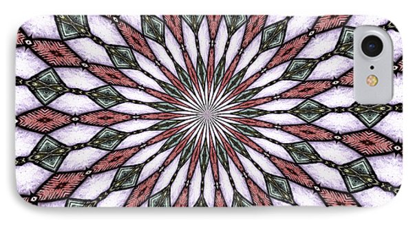 Stained Glass Kaleidoscope 2 IPhone Case by Rose Santuci-Sofranko