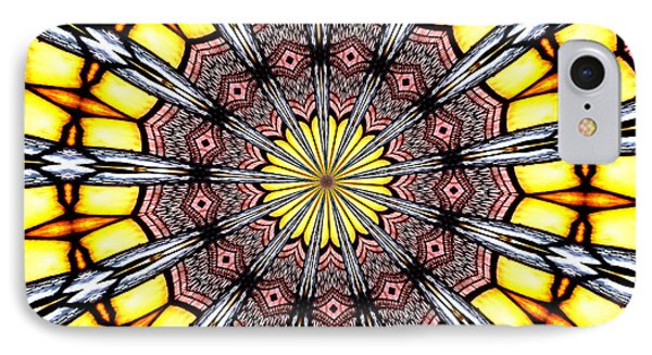 Stained Glass Kaleidoscope 23 IPhone Case by Rose Santuci-Sofranko