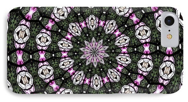 Stained Glass Kaleidoscope 3 IPhone Case by Rose Santuci-Sofranko