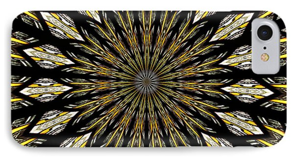 Stained Glass Kaleidoscope 5 IPhone Case by Rose Santuci-Sofranko