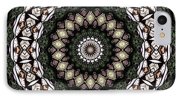 Stained Glass Kaleidoscope 6 IPhone Case by Rose Santuci-Sofranko