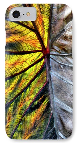 Stained Glass Leaf IPhone Case