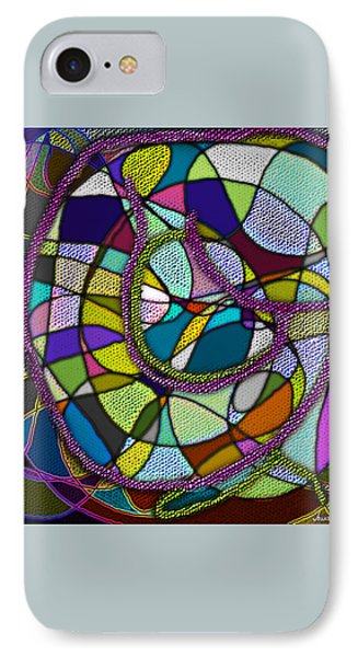 IPhone Case featuring the digital art Stained Glass Mother And Child by Iowan Stone-Flowers