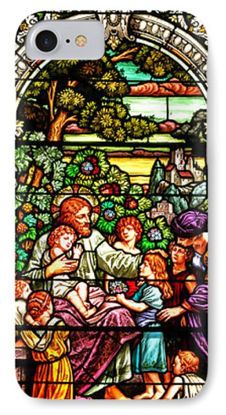 IPhone Case featuring the photograph Stained Glass Scene 12 Crop by Adam Jewell