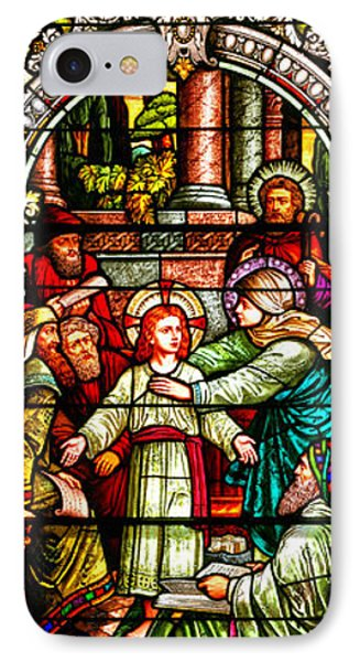 IPhone Case featuring the photograph Stained Glass Scene 3 by Adam Jewell